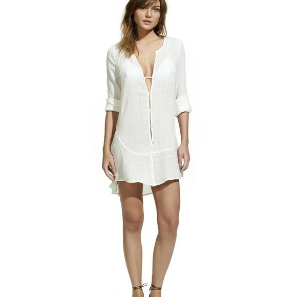 1fd23ba43c97b Vix Swim   Solid Ebe Chemise Coverup Dress In Off White   Poshmark